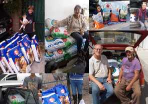 some of the people we help with food for their rescued animals