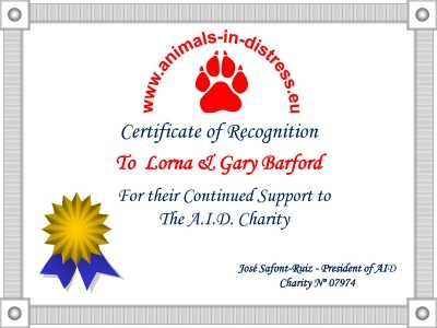 lorna & gary barfords sponsors of A.I.D.